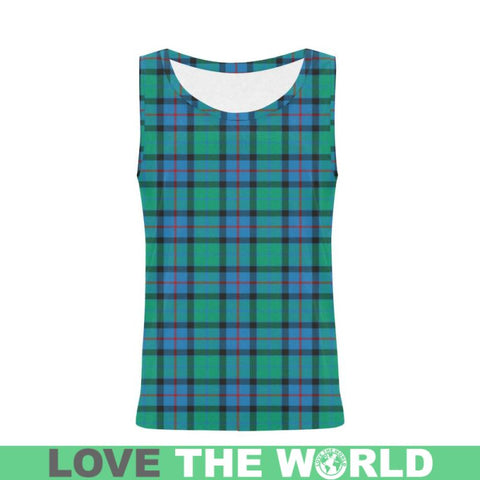 Image of Flower Of Scotland Tartan All Over Print Tank Top Nl25 Xs / Men Tops