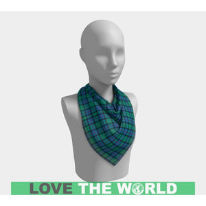 FLOWER OF SCOTLAND TARTAN SQUARE SCARF F1