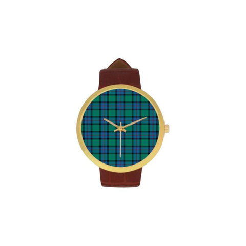 Flower Of Scotland Tartan Watch Ha8 One Size / Golden Leather Strap Watch Luxury Watches