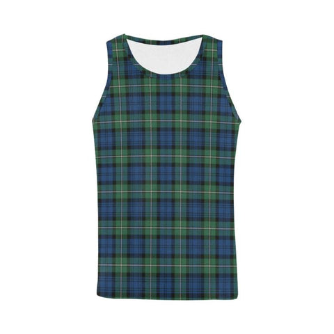 Image of Forbes Ancient Tartan All Over Print Tank Top Nl25 Xs / Men Tops