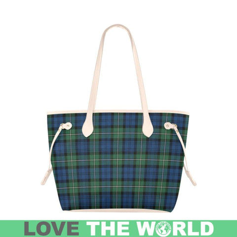 Forbes Ancient Tartan Clover Canvas Tote Bag S1 Bags