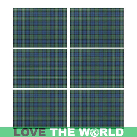 Forbes Ancient Tartan Placemat 14 Inch X 19 (Six Pieces) - Tk1 Placemats