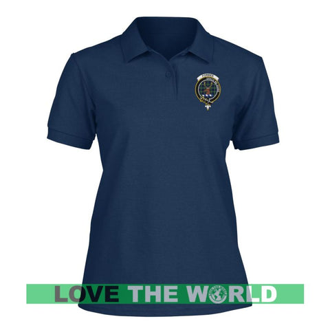 Forbes Badge Women Tartan Polo Shirt | Over 300 Clans Tartan | Special Custom Design | Love Scotland