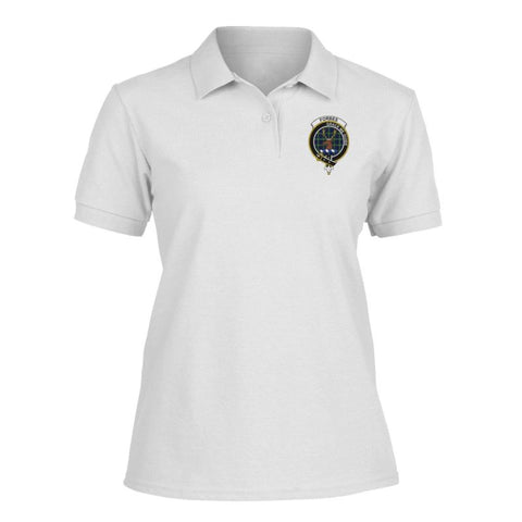 Image of Forbes Badge Women Tartan Polo Shirt | Over 300 Clans Tartan | Special Custom Design | Love Scotland