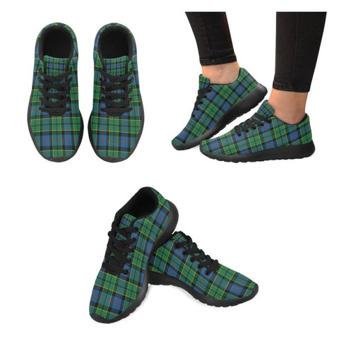 Image of Forsyth Ancient Tartan Running Shoes Hj4 Us6 / Forsyth Ancient Black Womens Running Shoes (Model