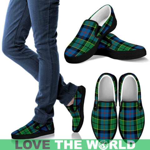 Image of Forsyth Ancient Tartan Slip Ons Womens Slip Ons - White / Us6 (Eu36)