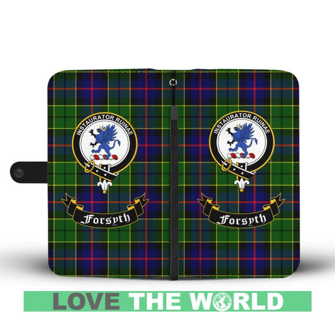 Tartan Wallet Case - Forsyth Clan | Scottish Wallet Case | 1sttheworld