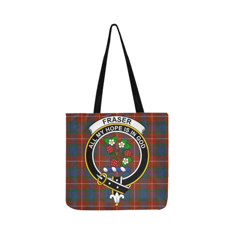 Fraser Ancient Clan Badge Tartan Reusable Shopping Bag - Hb1 Bags