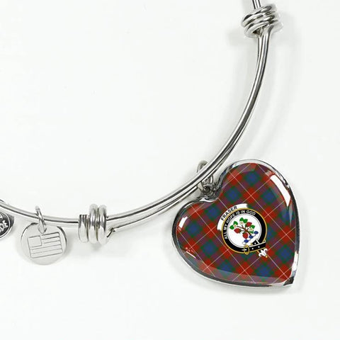 Fraser Ancient Tartan Silver Bangle - Sd1 Luxury Bangle (Silver) Jewelries