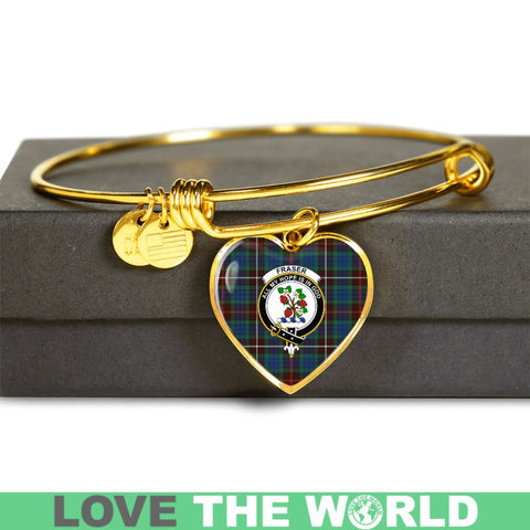 Fraser Hunting Ancient Tartan Golden Bangle - Tn Jewelries