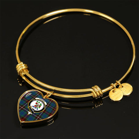 Image of Fraser Hunting Ancient Tartan Golden Bangle - Tn Jewelries