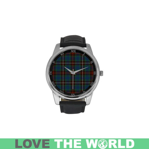 Fraser Hunting Ancient Tartan Watch Ha8 One Size / Golden Leather Strap Watch Luxury Watches