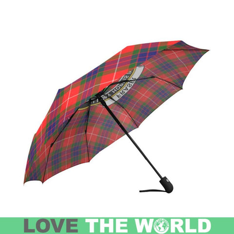 Fraser Modern Tartan Clan Badge Auto-Foldable Umbrella R1 Auto Foldable Umbrellas