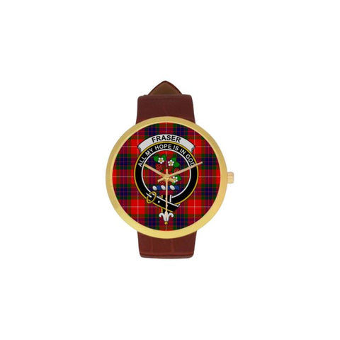 Fraser Modern Clan Badge Tartan Watch