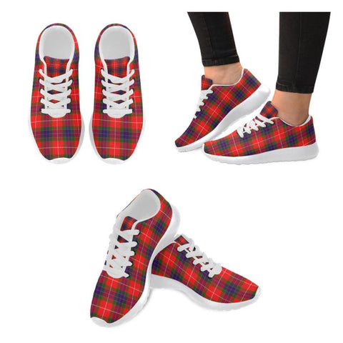 Fraser Modern Tartan Running Shoes Hj4 Us6 / Fraser Modern White Womens Running Shoes (Model 020)