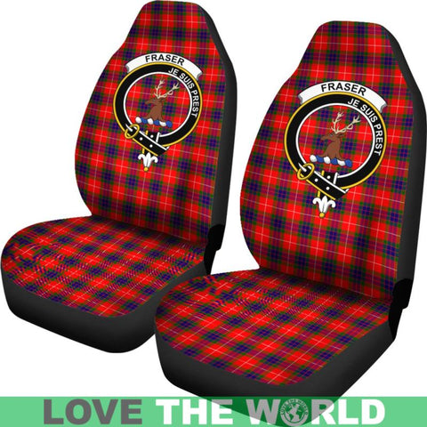 Fraser Of Lovat Clan Badges Tartan Car Seat Cover Ha5