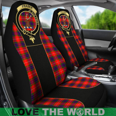 Fraser (Of Lovat) Tartan Clan Badge Golden Car Seat Covers Dm1