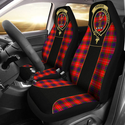 Fraser (Of Lovat) Tartan Car Seat Cover - Golden Clan Badge