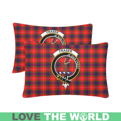 Image of Fraser Tartan Clan Badge Rectangle Pillow Hj4 One Size / Fraser Of Lovat Custom Zippered Pillow