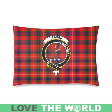 Fraser Tartan Clan Badge Rectangle Pillow Hj4 One Size / Fraser Of Lovat Custom Zippered Pillow