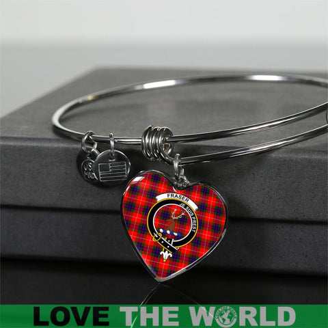 Image of Fraser Tartan Silver Bangle - Sd1 Jewelries