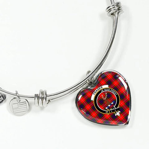 Fraser Tartan Silver Bangle - Sd1 Jewelries