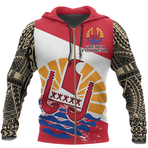 French Polynesia Zip Hoodie | Women & Men | High Quality