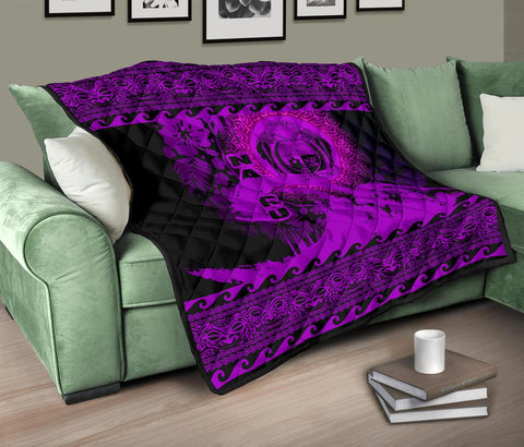 Nauru Quilt Wave Pureple Design K62