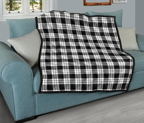 MacFarlane Black & White Tartan Premium Quilt TH8