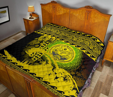 Marshall Island Quilt Wave Yellow Design K62