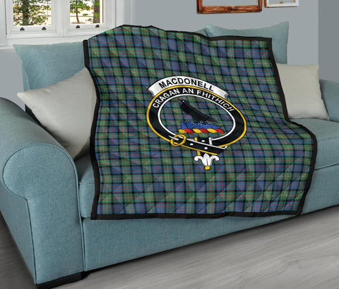 MacDonnell of Glengarry Ancient Tartan Clan Badge Premium Quilt TH8