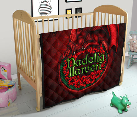Image of Wales Premium Quilt - Christmas Dragon - BN15