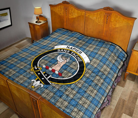 Image of Napier Ancient Tartan Clan Badge Premium Quilt TH8