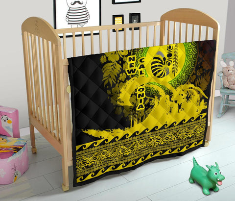 Image of New Caledonia Quilt Wave Yellow Design K62