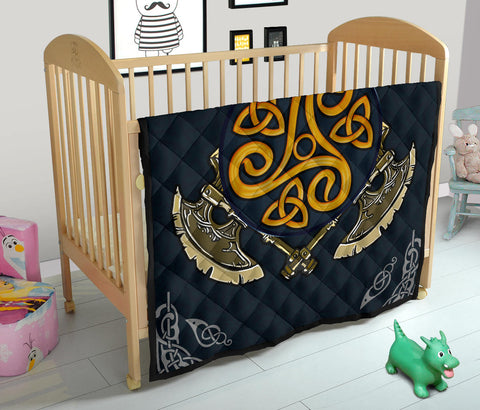 Image of Viking Axe Premium Quilt A6