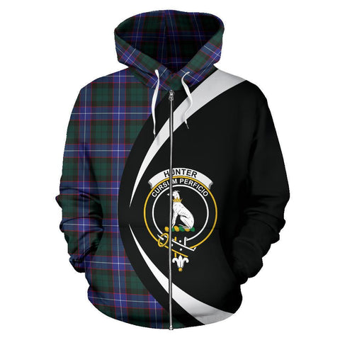 Image of Hunter Modern Tartan Circle Zip Hoodie