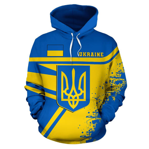 Image of Ukraine Hoodie Painting Style | 1sttheworld.com