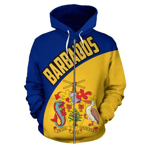 Barbados Hoodie Wave Flag Color TH90