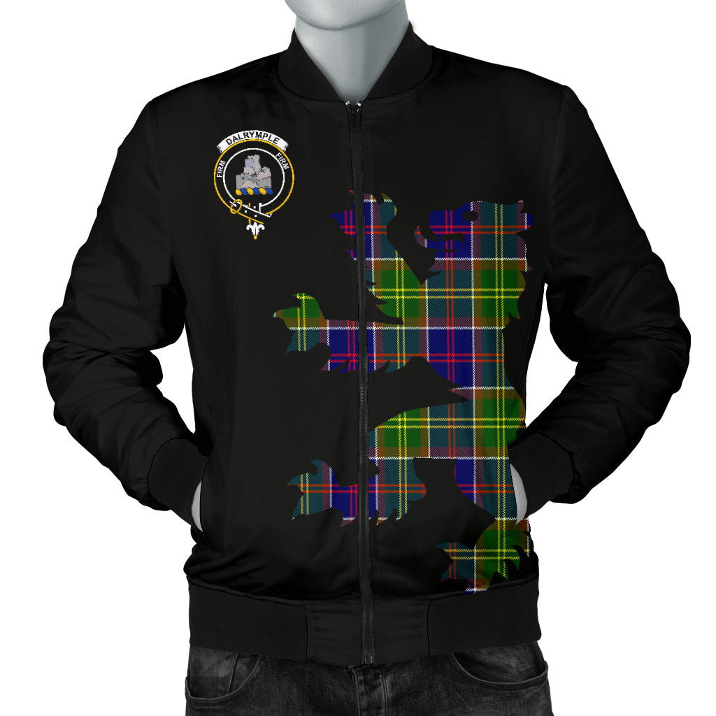 Dalrymple Tartan Lion And Thistle Bomber Jacket for Men