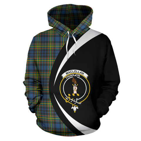 (Custom your text) MacLellan Ancient Tartan Circle Hoodie