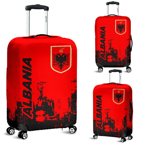 Albania  Luggage Cover - Smudge Style