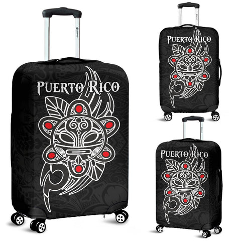 Puerto Rico Taino Sun Coqui Frog Tribal Luggage Covers A15