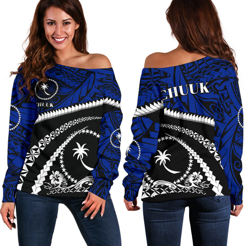 Image of Chuuk Women Off Shoulder Sweater - Road to Hometown K4