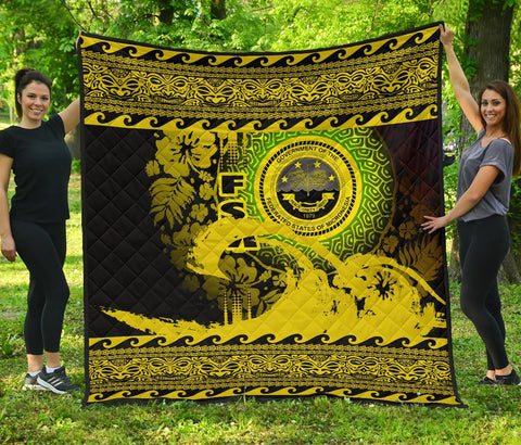 Federated States Of Micronesia Quilt Wave Yellow Design K62