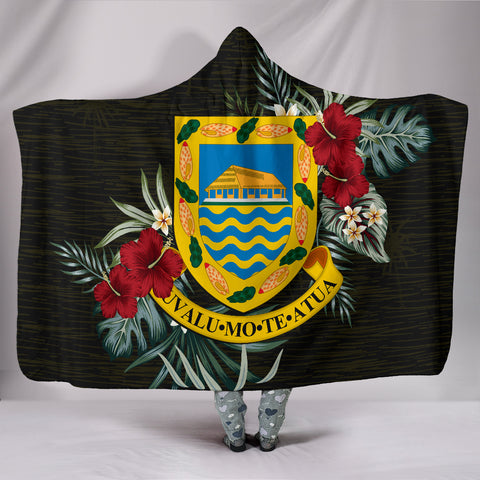 Image of Tuvalu Hibiscus Hooded Blanket A7