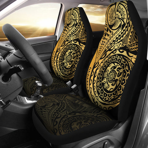 Image of Polynesian Tattoo Style Car Seat Covers | High Quality | 1sttheworld
