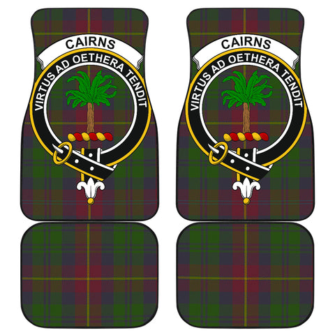Cairns  Tartan Clan Badge Car Floor Mat 4 Pieces K7