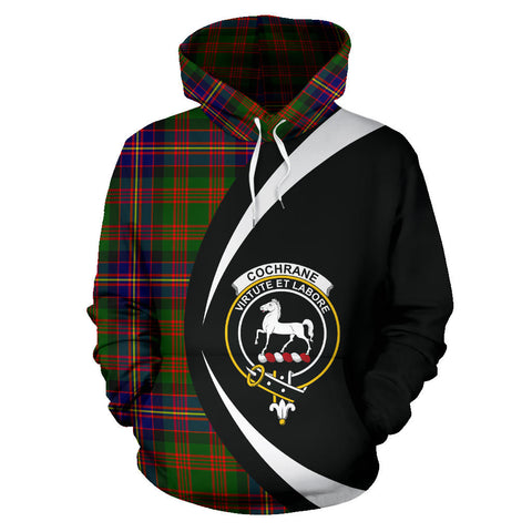 (Custom your text) Cochrane Modern Tartan Circle Hoodie