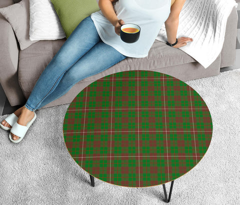 Image of MacKinnon Hunting Modern Tartan Circular Coffee Table - BN
