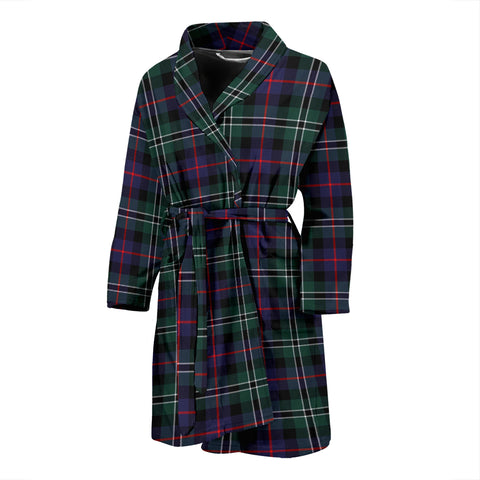 Rose Hunting Modern Tartan Men's Bath Robe